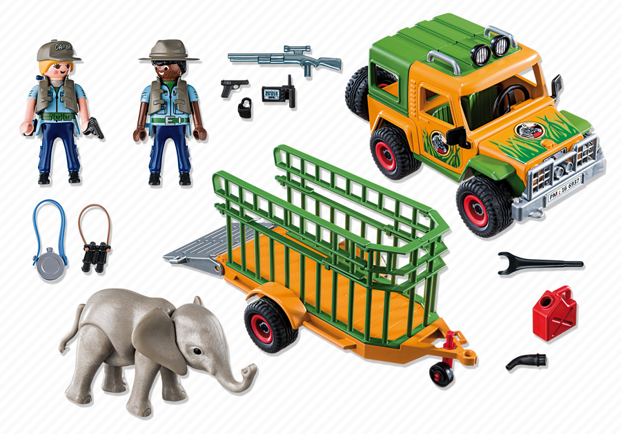 playmobil 6937 jeep dei rangers con gabbia di trasporto. Black Bedroom Furniture Sets. Home Design Ideas