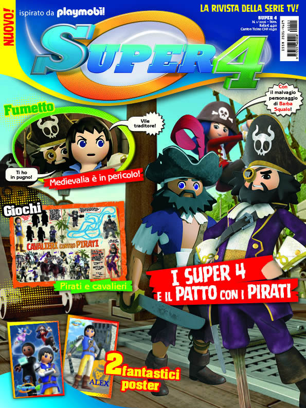 Playmobil Magazine 1/2016 + SUPER 4 (limited edition)