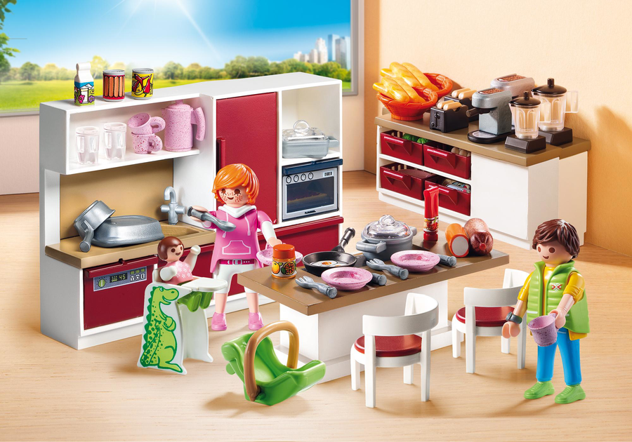 Playmobil 9269 grande cucina attrezzata for Playmobil modernes haus 9266
